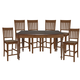 John Thomas Furniture Bridgeport 7 Extension Gathering Dining Set in Espresso