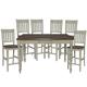 John Thomas Furniture Bridgeport 7 Extension Gathering Dining Set in Espresso/Willow