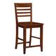 John Thomas Furniture Cosmopolitan Roma Stool (Set of 2) in Espresso S581-3102