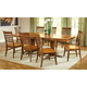 John Thomas Furniture Cosmopolitan 9 Piece Milano Double Butterfly Extension Dining Set in Aged Cherry/ Espresso