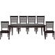 John Thomas Furniture Cosmopolitan 7 Piece Salerno Butterfly Extension Dining Set in Dark Walnut