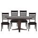 John Thomas Furniture Cosmopolitan 5 Piece Milano Extension Table in Dark Walnut