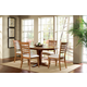 John Thomas Furniture Cosmopolitan 5 Piece Milano Extension Table in Aged Cherry/ Espresso