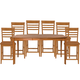 John Thomas Furniture Cosmopolitan 7 Piece Salerno Butterfly Extension High Dining Set in Aged Cherry