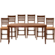 John Thomas Furniture Cosmopolitan 7 Piece Salerno Butterfly Extension High Dining Set in Aged Cherry/ Espresso