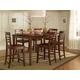 John Thomas Furniture Cosmopolitan 7 Piece Salerno Butterfly Extension High Dining Set in Espresso