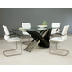 Pastel Furniture 5pc Akasha Rectangular Dining Room Set with Side Chairs in Wenge
