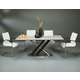 Pastel Furniture 5pc Charlize Rectangular Dining Room Set with Akasha Side Chairs in Wenge