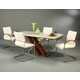 Pastel Furniture 5pc Charlize Rectangular Dining Room Set with Akasha Side Chairs in Walnut
