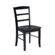 John Thomas Furniture Dining Essentials Madrid Side Chair (Set of 2) in Black C46-2