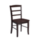 John Thomas Furniture Dining Essentials Madrid Side Chair (Set of 2) in Rich Mocha C15-2
