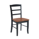 John Thomas Furniture Dining Essentials Madrid Side Chair (Set of 2) in Black/Cherry C57-2