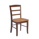 John Thomas Furniture Dining Essentials Madrid Side Chair (Set of 2) in Cinnamon/Espresso C58-2