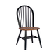 John Thomas Furniture Dining Essentials Windsor Side Chair (Set of 2) in Black/Cherry C57-112