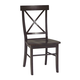 John Thomas Furniture Dining Essentials X Back Side Chair (Set of 2) in Rich Mocha C15-613