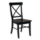 John Thomas Furniture Dining Essentials X Back Side Chair (Set of 2) in Black C46-613