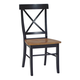 John Thomas Furniture Dining Essentials X Back Side Chair (Set of 2) in Black/Cherry C57-613