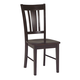 John Thomas Furniture Dining Essentials San Remo Side Chair (Set of 2) in Rich Mocha C15-10