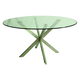 Pastel Furniture Eritrea Round Dining Table in Stainless Steel