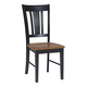 John Thomas Furniture Dining Essentials San Remo Side Chair (Set of 2) in Black/Cherry C57-10