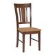 John Thomas Furniture Dining Essentials San Remo Side Chair (Set of 2) in Cinnamon/Espresso C58-10