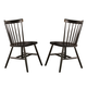 John Thomas Furniture Dining Essentials Copenhagen Side Chair (Set of 2) in Black C46-285