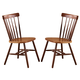 John Thomas Furniture Dining Essentials Copenhagen Side Chair (Set of 2) in Cinnamon/Espresso C58-285