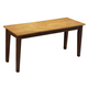 John Thomas Furniture Dining Essentials Bench in Cinnamon/Espresso BE58-39