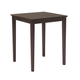 John Thomas Furniture Dining Essentials Square Pub Table in Rich Mocha T15-3030GS