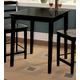 John Thomas Furniture Dining Essentials Square Pub Table in Black T46-3030T-36S