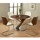 Pastel Furniture 5pc Indiana Round Dining Room Set with Side Chair in Stainless Steel