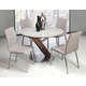 Pastel Furniture 5pc Judith Round Dining Room Set with Side Chair in Chrome