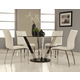 Pastel Furniture 5pc Hudson Valley Round Dining Room Set with Judith Side Chair in Chrome
