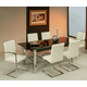 Pastel Furniture 5pc Monaco Rectangular Extendable Dining Room Set with Side Chair in Chrome
