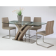 Pastel Furniture 5pc Quanto Basta Rectangular Dining Room Set with Side Chair in Stainless Steel