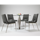 Pastel Furniture 5pc Alexandria Round Dining Room Set with Emily Side Chair in Stainless Steel