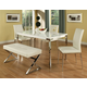 Pastel Furniture 5pc Fort James Rectangular Dining Room Set with Sundance Side Chair in Chrome