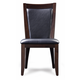 Casana Brooke Side Chair in Deep Coffee 216-120 (Set of 2) CLOSEOUT