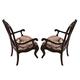 American Drew Casalone Wooden Back Arm Chair in Dark Walnut (Set of 2)