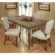 Pastel Furniture 5pc Utopia Rectangular Dining Room Set in White Upholstered Chair