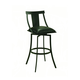 Pastel Furniture Amrita Swivel Barstool in Graphite Black (Set of 2) AA-219-30-GB-936