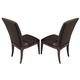 American Drew Park Studio Upholstered Side Chair in Light Oak (Set of 2)