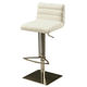 Pastel Furniture Dubai Hydraulic Barstool in Stainless Steel (Set of 2) DB-219-SS-WH-978
