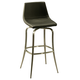 Pastel Furniture Diamond Pearl Swivel Barstool in Stainless Steel (Set of 2) DP-219-30-SS-979