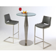 Pastel Furniture 3pc Alexandria Pub Set with Emily Barstool in Stainless Steel