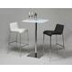 Pastel Furniture 3pc Jasmyne Pub Set with Inamona Barstool in Chrome
