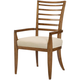 American Drew Grove Point Ladder Back Arm Chair in Warm Khaki (Set of 2) 314-637