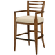 American Drew Grove Point Ladder Back Bar Stool in Warm Khaki (Set of 2) 314-690