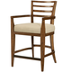 American Drew Grove Point Ladder Back Counter Stool in Warm Khaki (Set of 2) 314-691
