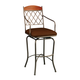 Pastel Furniture Napa Ridge Swivel Barstool with Arms in Bronze (Set of 2) NR-219-26-BF-BK-582